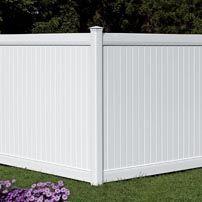 Cloture de pvc blanche   PVC fence   Clôture Boucher   450-516-0264