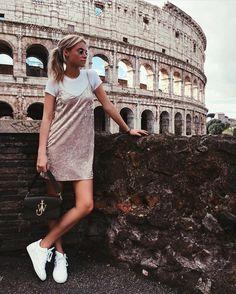 Claartje Rose, Dutch blogger, pink velvet slip dress, white shirt