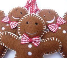 felt gingerbread men decorations