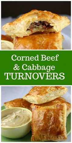 Corned Beef and Cabbage Turnovers - Recipe Girl - Beef Recipes Scottish Recipes, Irish Recipes, Irish Desserts, Asian Desserts, Pub Recipes, English Recipes, Mini Quiches, Corn Beef And Cabbage, Cabbage Recipes
