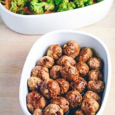 Teriyaki chicken meatballs with fried vegetables - Meatballs, easy everyday food. Healthy dinner with chicken and vegetables. Greek Recipes, Asian Recipes, Healthy Recipes, Clean Eating Snacks, Healthy Eating, Fodmap, Recipes From Heaven, Brunch, Everyday Food