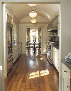 Galley Kitchen in Michael Smith's Home Image via Cote De Texas