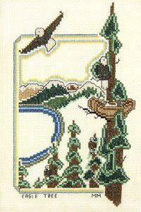 Eagle Tree Counted Cross Stitch Pattern