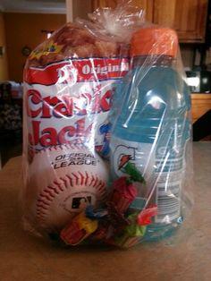 Treat bags for baseball!