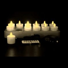 Set the mood without the danger of a flame with a set of rechargeable LED tea lights!