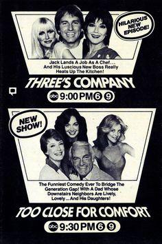 1980 ABC TV — Three's Company (1977-84) & Too Close for Comfort (1980-83)