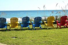 Don't forget to leave lots of time for relaxing on the beach in colorful chairs with your girlfriends. #girlfriends  #getaway