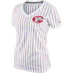 Cincinnati Reds MLB Nike Womens Cooperstown Pinstripe Ole Faithful V-Neck T-Shirt $0.00 http://www.fansedge.com/Cincinnati-Reds-MLB-Nike-Womens-Cooperstown-Pinstripe-Ole-Faithful-V-Neck-T-Shirt-_-1487202572_PD.html?social=pinterest_pfid66-54352=pinterest_pfid66-54352