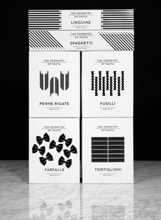 Here Design | The Geometry of Pasta (italian biscuits packaging)