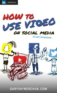 How to use all the major video platforms on social media, including Youtube, Facebook video, Snapchat and Twitter video. Are you paying attention to the market shifts, to the differences in platforms? This deck will help you see all the differences between them...http://www.slideshare.net/vaynerchuk/the-rise-of-social-media-video-marketing