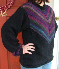 Diagonal Knit Noro Yarn Sweater
