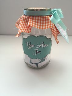 Simple homemade gift for a friend or loved one.  You are..... (pull a word a day).  Uplifting and meaningful! @ www.mylifefromhome.com
