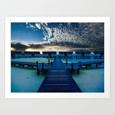 Reethi Beach Maldives  Art Print by Benedict Middleton - $22.88