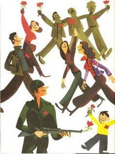 João Fazenda - 25 Abril 1974 - #Portugal - Revolução dos Cravos History Of Portugal, Graceland, Carnations, Lisbon, Portuguese, Vintage Posters, Childhood Memories, Cool Pictures, Draw