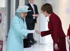 The Queen meets First Minister and Scottish National Party leader Nicola Sturgeon, as she attends the opening of the fifth session of the Scottish Parliament in Edinburgh. Her Majesty urgedpolitical leaders around the world to make 'room for quiet thinking and contemplation'