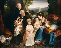 """Portrait of the Copley Family"" by John Singleton Copley, the foremost artist in colonial America, was virtually self-taught as a portraitist. This painting dates back to 1776. [Wikipedia]"