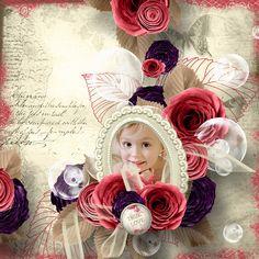 """Page réalisée avec le nouveau kit de Célinoa's Designs """"Wilted Flowers"""" (RAK Iga Logan) : http://www.myscrapartdigital.com/shop/index.php?main_page=index&cPath=24_52"""