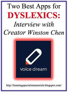 Come learn about the two best apps for dyslexia! You can even enter a giveaway of the new Voice Dream Writer App between now and Feb. 15th 2015!