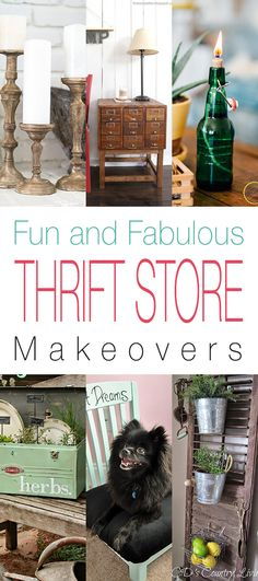 It is once again time for some Fun and Fabulous Thrift Store Makeovers! Today's Collection is filled with some very easy creations! From transferring a Thrift Store Bottle into an Oil Lamp… to taking some Thrift Store Frames and turning them into a Tiered Hanging Herb Dryer!There is also a Roadside Rescue…a fabulous Brass Treatment …