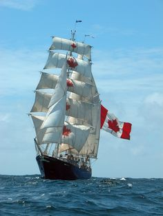 Concordia a Canadian tall ship. Canada by Caroline. Moby Dick, Old Sailing Ships, O Canada, Sail Away, Wooden Boats, Tall Ships, Water Crafts, Belle Photo, Cruises