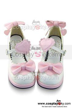 Sweet Lolita Shoes Pink Boots High Heels 4.5cm