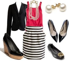 """""""Black and White Skirt"""" by gardekm on Polyvore"""