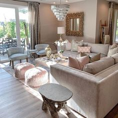 Glam Living Room, Living Room Decor, Living Spaces, Bedroom Decor, Dining Room, Interior Design Career, Interior Decorating Styles, Luxury Living, Living Room Designs