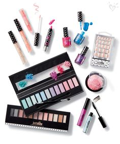 Always show your sparkle. Have fun with our Just Shine eye shadow palette, lip gloss, metallic nail polish and more!