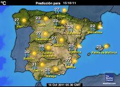 El mapa metereológico Spanish 1, Spanish Lessons, Weather Unit, Spanish Teacher, Bilbao, City Photo, The Unit, Seasons, School