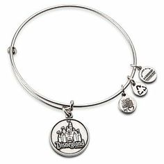 Disneyland Castle Charm Bracelet by Alex and Ani, available on disneystore.com now!