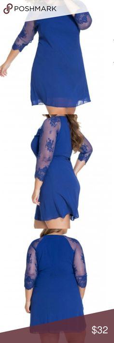 Flash Sale 🌟Sheer Lace Chiffon Shift Dress PLUS Sheer Lace Chiffon Shift Dress PLUS Dresses