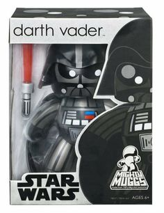 """Star Wars Mighty Muggs 6"""" - Darth Vader by Hasbro. $22.95. Welcome to the trendy side of the Force.. The face of evil never looked so good! Whether for play or display, this fun, hip version of Darth Vader, the legendary character from the Star Wars epic, is sure to bring a smile to the faces of collectors and fans alike. Armed with his trusty lightsaber, this evil icon, with his large character head and chunky body, is ready to do battle and to take his rightful place..."""