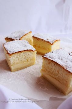 Magic cake - one batter = three layers cake (in Romanian with translator) Yummy Treats, Sweet Treats, Armenian Recipes, My Recipes, Sweet Tooth, Cheesecake, Deserts, Sweets, Meals