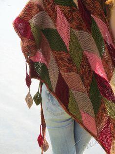"""Купить Шаль """"Осенняя река"""" - оригинальный аксессуар, осенний аксессуар, подарок для женщины, шаль купить"""