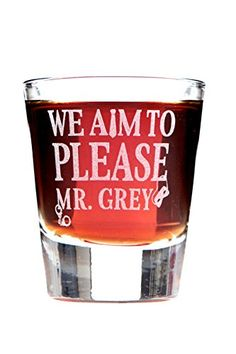 We Aim to Please Mr Grey Shot Glass *** You can find out more details at the link of the image.