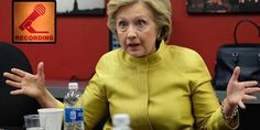 Secret Hillary Clinton recording from a private event exposes her plans for gun control...