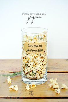 Rosemary Parmesan Popcorn - YUM