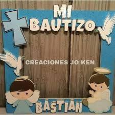 Resultado de imagen para marco de fotos para bautizo de niña