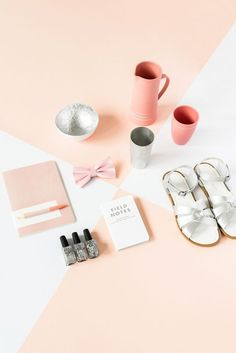 Flatlay Inspiration· via Custom Scene   The Design Files Christmas Gift Guide, Styling by Marsha Golemac, Photography by Brooke Holm