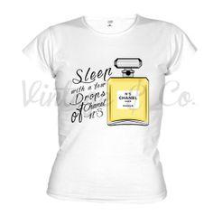 Camisetas con el famoso perfume de Chanel, ilustración exclusiva by Vintage&Co. + info vintageandco@hotmail.es