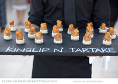 LOVE this! Have the item name written right on the serving platter in chalk