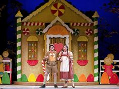 CIM's production of Humperdinck's Hansel & Gretel, a fairy tale opera, directed by David Bamberger with Harry Davidson conducting the CIM Orchestra; Feb. 29 - March 3. Elizabeth Frey as Hansel and April Martin as Gretel; sets by David Brooks and costumes by Alison Garrigan.