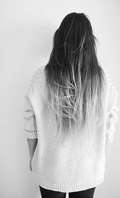grey ombre on long hair 2016