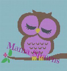 Sleepy Baby Owl  Written Pattern by MamaShawns on Etsy