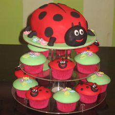 Ladybug Cake And Cupcakes  Thats My cakepins.com