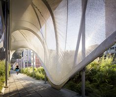 Zaha Hadid divulga instalação para o High Line, Allongé: instalação de Zaha Hadid no High Line. Imagem © Scott Frances