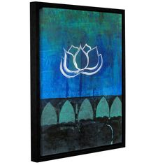 Lotus Blossom by Elena Ray Floater-Framed Graphic Art on Gallery-Wrapped Canvas