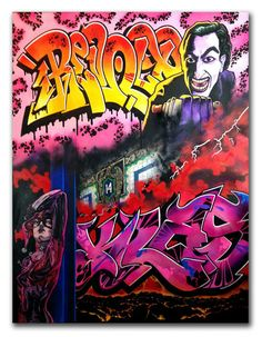 #KLASS #TDS  Dr Revolt RTW collab canvas Graffiti Writing, Hip Hop Art, Trippy, Art Images, Street Art, Canvas, Gallery, Instagram Posts, Guns