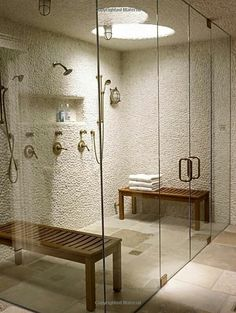 Shower room bench steam shower bench the width of the steam room ada sh Dream Bathrooms, Beautiful Bathrooms, Small Bathroom, Master Bathroom, Bathroom Ideas, Bathroom Remodeling, Bathroom Vanities, Bathroom Designs, Bathroom Organization