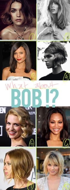 Love all the varieties with these bob haircuts!